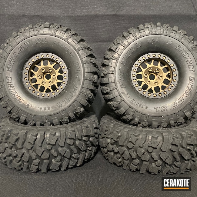 Cerakoted: S.H.O.T,RC Car Parts Cerakote Coated,1.9,Burnt Bronze H-148,RC Truck,Wheels