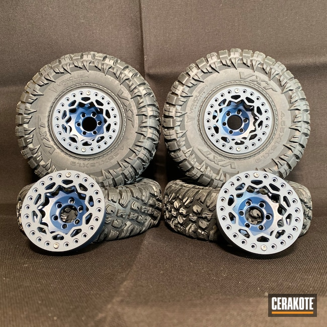 Cerakoted: RC Car Parts Cerakote Coated,Stormtrooper White H-297,KEL-TEC® NAVY BLUE H-127,Armor Black H-190,Wheels,RC Car