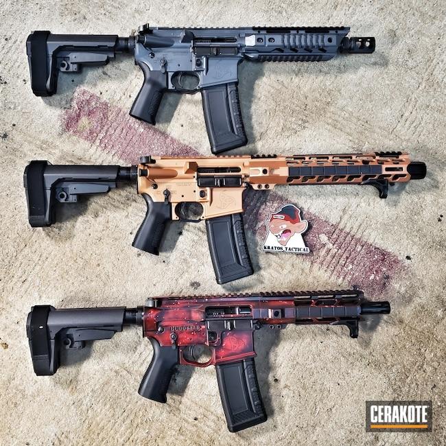 Cerakoted: S.H.O.T,COPPER H-347,AR Pistol,Graphite Black H-146,RUBY RED H-306,7.62x39,PLATINUM GREY H-337,Kratos Tachical,.300 Blackout