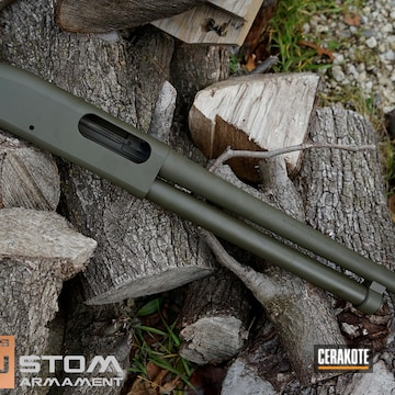 Remington 870 Cerakoted Using O.d. Green