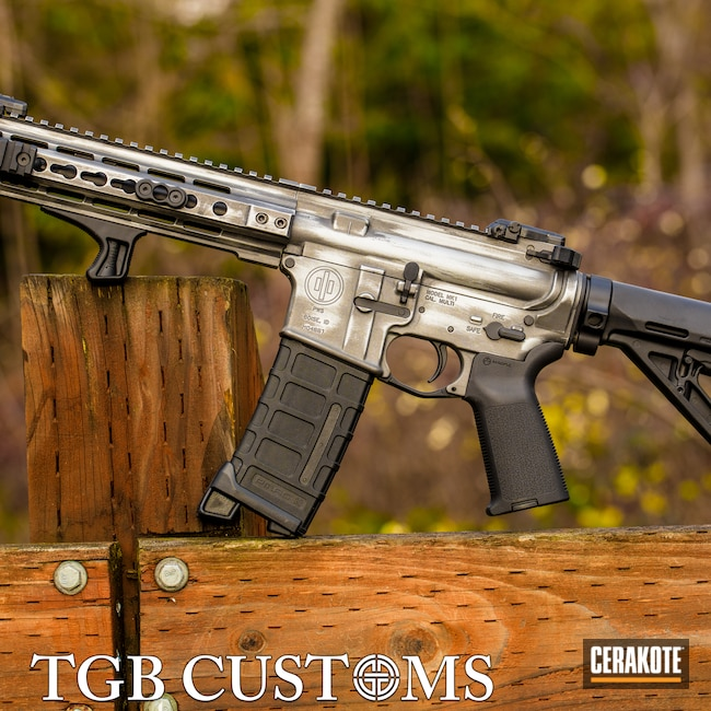 Cerakoted: S.H.O.T,MK1,Battleworn,Distressed,Tungsten H-237,Satin Aluminum H-151,Primary Weapons Systems,PWS,.300 Blackout,AR-15