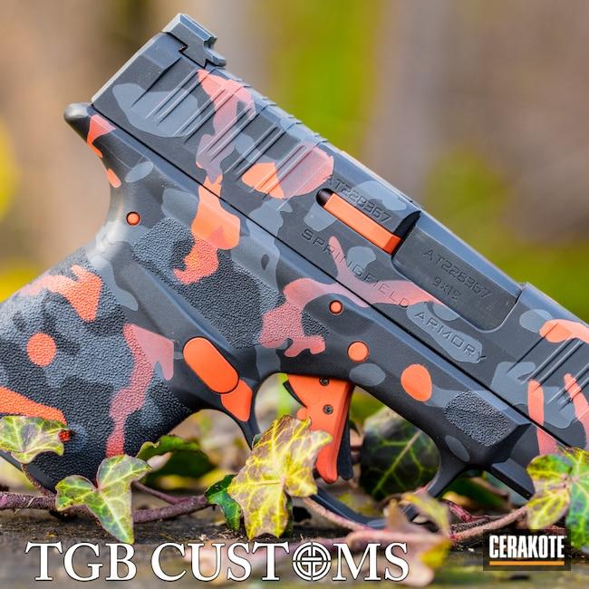 Cerakoted: S.H.O.T,9mm,SPRINGFIELD® GREY H-304,MultiCam,Armor Black H-190,Springfield Armory,Hellcat,Hunter Orange H-128