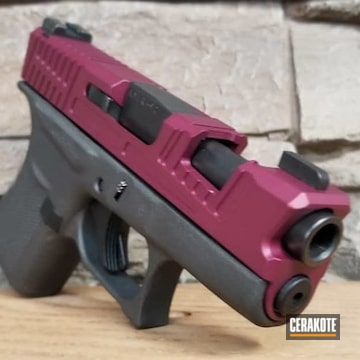 Glock 43 Cerakoted Using Black Cherry And Cobalt