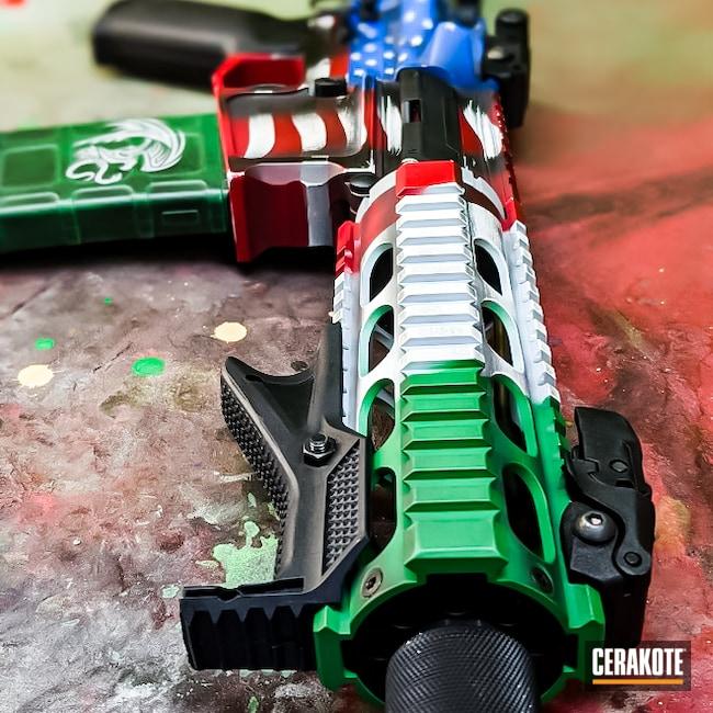 Cerakoted: S.H.O.T,Flag of Mexico,AR Pistol,Battleworn,Stormtrooper White H-297,USMC Red H-167,America,.223,SQUATCH GREEN H-316