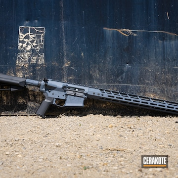 Stag Arms Ar Build Cerakoted Using Cobalt Kinetics™ Slate And Graphite Black