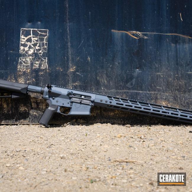 Stag Arms Ar Build Cerakoted Using Cobalt Kinetics™ Slate And Graphite Black