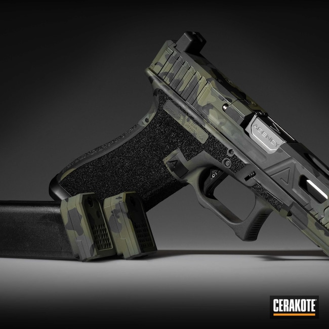 Cerakoted: S.H.O.T,Sniper Green H-229,Graphite Black H-146,Glock,Glock 17,SIG™ DARK GREY H-210,MultiCam Black,Agency Arms,Dawson Precision,Handgun