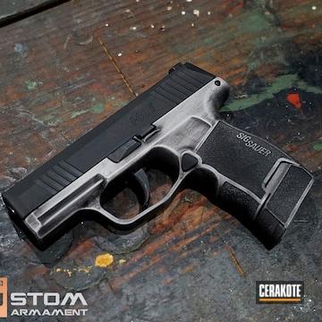 Sig Sauer P365 Cerakoted Using Armor Black And Satin Mag