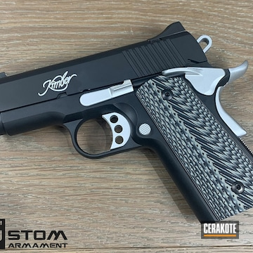 Kimber 1911 Cerakoted Using Satin Aluminum And Armor Black