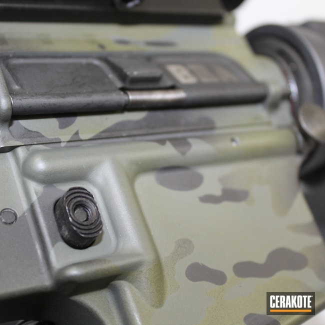 Cerakoted: S.H.O.T,MultiCam,Graphite Black H-146,Mil Spec O.D. Green H-240,Camo,Pistol,Mega Arms,Camouflage,5.56,MAGPUL® FOLIAGE GREEN H-231,AR-15