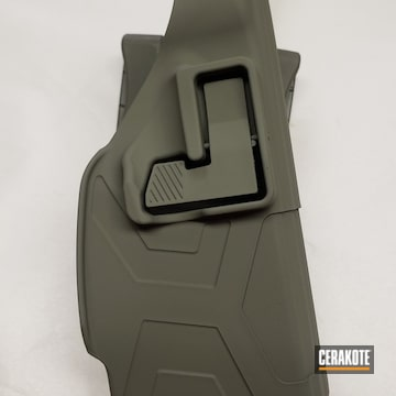 Taser Holster Cerakoted Using Magpul® Foliage Green