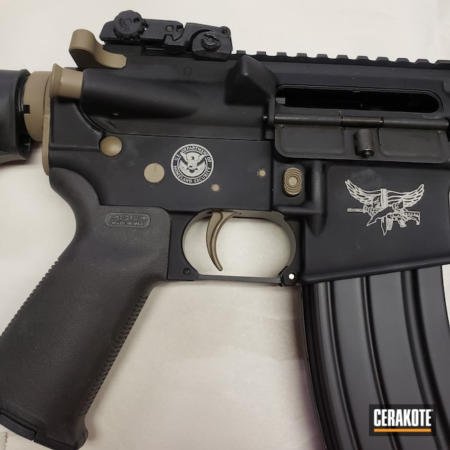 Cerakoted: S.H.O.T,Custom,Engraved,Graphite Black H-146,Anderson,Tactical Rifle,Flat Dark Earth H-265,.223 Wylde