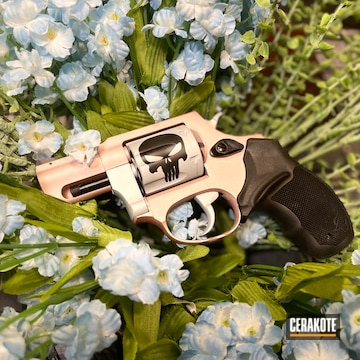 Taurus Revolver Cerakoted Using Rose Gold And Gloss Black