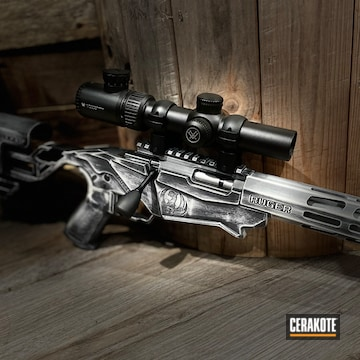 Battleworn Ruger Precision Rifle Cerakoted Using Frost And Blackout