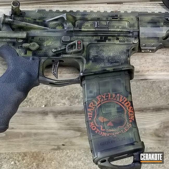 Cerakoted: S.H.O.T,Custom,Gloss Black H-109,Mil Spec O.D. Green H-240,Camo,Armor Black H-190,Noveske Bazooka Green H-189,Snake Skin,.223 Wylde,Custom Camo,AR-15