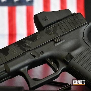 Black Camo Glock 19 Cerakoted Using Armor Black And Gloss Black