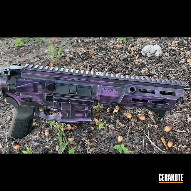 Cerakoted: S.H.O.T,AR Pistol,Radian Weapons,Battleworn,Graphite Black H-146,Bright Purple H-217,.300 Blackout,SB Tactical
