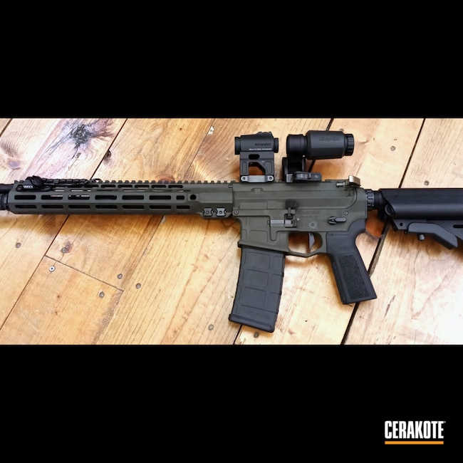 Cerakoted: S.H.O.T,Pin And Weld,Radian Weapons,SLR Rifleworks,MAGPUL® O.D. GREEN H-232,AR-15
