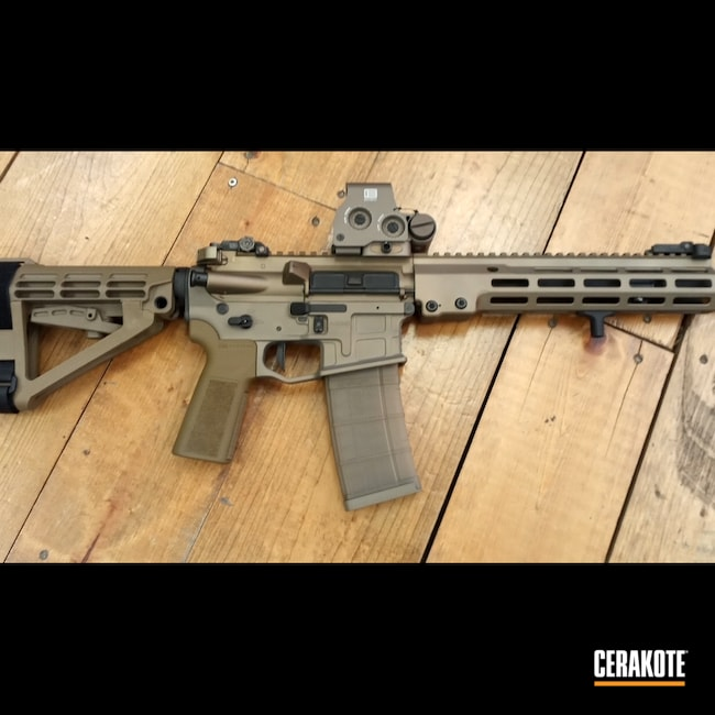 Cerakoted: S.H.O.T,Radian Weapons,GeisseleAutomatics,Snow White H-136,Burnt Bronze H-148,5.56,AR-15