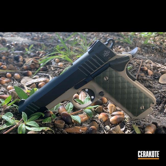 Cerakoted: S.H.O.T,Baby Rock,MCMILLAN® TAN H-203,Pistol,1911,.380 ACP,Rock Island