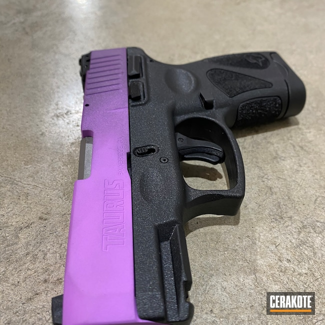 Cerakoted: S.H.O.T,Two-Color Fade,G2s,Wild Purple H-197,Pistol,PURPLEXED H-332,Taurus,Purple,Firearms,Handgun