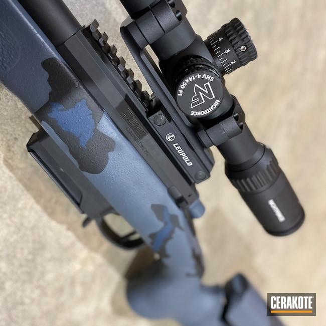 Cerakoted: S.H.O.T,Rifle,Defiance Machine,Custom Bolt Action,Kreiger Barrel,Firearms,Modern Camo,Nightforce Scope,mcmillan stocks,Deviant,MULTICAM® DARK GREY H-345,Precision Rifle,Graphite Black H-146,KEL-TEC® NAVY BLUE H-127,Timney Trigger