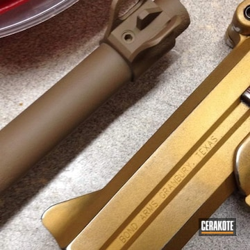 Gold Derringer Cerakoted Using Gen Ii Desert Sand And Gold