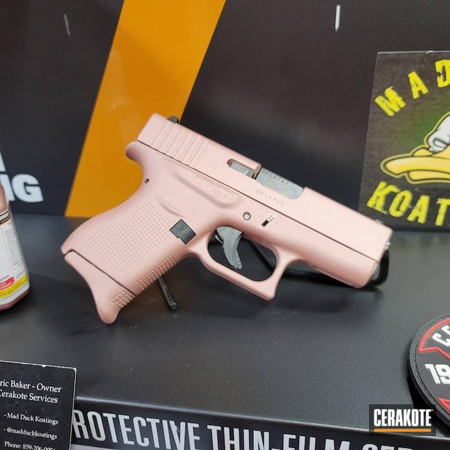 Cerakoted: S.H.O.T,9mm,Girls Gun,Glock,ROSE GOLD H-327,Glock 43