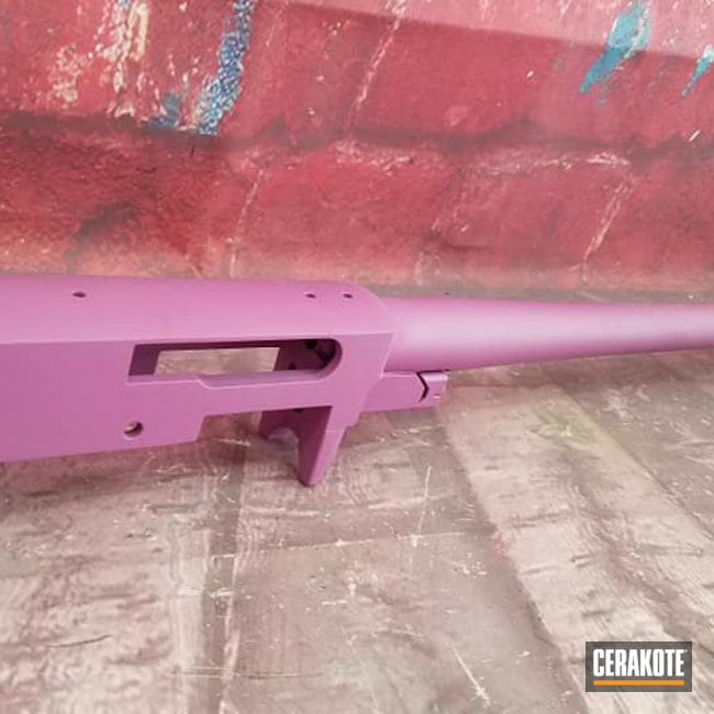 Cerakoted: Bolt Action Rifle,Bolt Action,Wild Purple H-197,Barrel Action