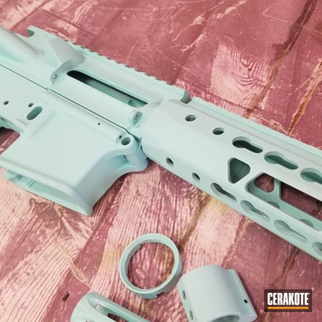Cerakoted: S.H.O.T,Robin's Egg Blue H-175,AR Project,Tactical Rifle,AR Build,AR-15