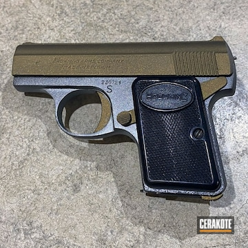 Baby Browning Cerakoted Using Tungsten And Burnt Bronze