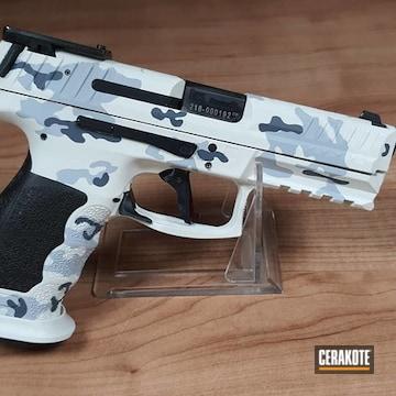 Snow Camo Hk Sfp 9 Cerakoted Using Multicam® Dark Grey, Snow White And Battleship Grey