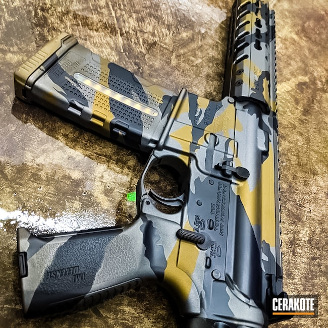 Cerakoted: S.H.O.T,Tiger Stripes,AR Pistol,Graphite Black H-146,Burnt Bronze H-148,Tungsten H-237,.223,AR-15