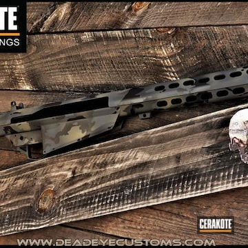 Multicam Barrett Chassis Cerakoted Using Springfield® Grey, Magpul® Foliage Green And Sig™ Dark Grey