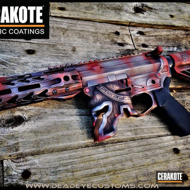 Cerakoted: S.H.O.T,Spike's Tactical Spartan,Stainless H-152,DESERT VERDE H-256,Burnt Bronze H-148,Crimson H-221,MULTICAM® DARK BROWN H-342,Post Apocalyptic