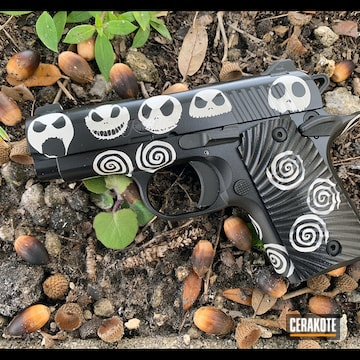 The Nigthmare Before Christmas Kimber Micro Cerakoted Using Frost And Blackout