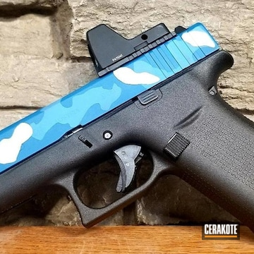 Blue Camo Glock Cerakoted Using Battleship Grey, Nra Blue And Sea Blue
