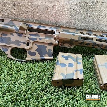 Custom Camo Ar Build Cerakoted Using Glock® Fde, Graphite Black And Mil Spec O.d. Green
