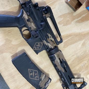 Custom Camo Cerakoted Using Barrett® Brown, Desert Sand And Graphite Black