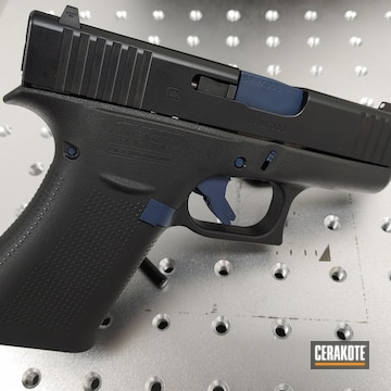 Glock 43x Cerakoted Using Kel-tec® Navy Blue