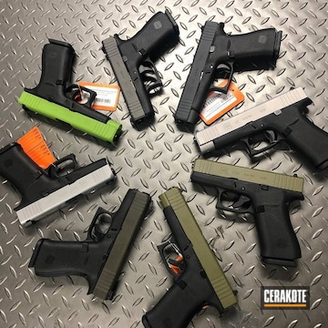 Glocks Cerakoted Using Noveske Bazooka Green, Zombie Green And Magpul® O.d. Green