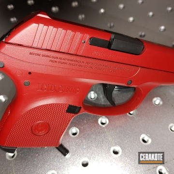 Ruger Lpc Cerakoted Using Graphite Black And Ruby Red