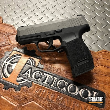Sig Sauer P365 Slide Cerakoted Using Tungsten