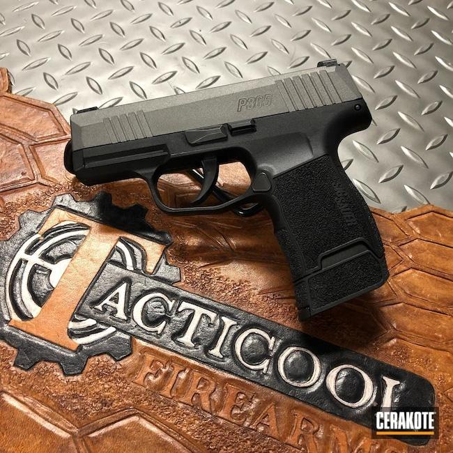 Cerakoted: S.H.O.T,Sig P365,Pocket Pistol,p365,Tungsten H-237,Pistol,Sig Sauer,Sig,Pistol Slide,Slide,Pistol Slides,Handgun,9mm,Gun Slide