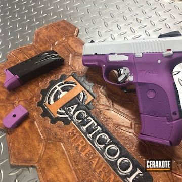 Ruger Sr9c Cerakoted Using Wild Purple And Crushed Silver