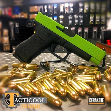 Glock 48 Slide Cerakoted Using Zombie Green