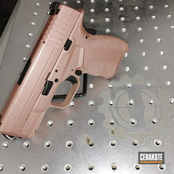 Springfield Amory Xd-9 Cerakoted Using Rose Gold And Graphite Black