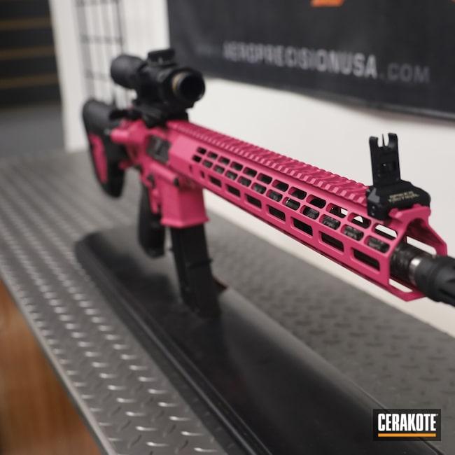 Cerakoted: S.H.O.T,Rifle,Don't Tread On Me,Aero Precision,Rifles,MagPul,Leupold Scope,SIG™ PINK H-224,X15,5.56,Leupold,AR-15