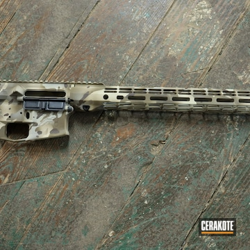 Custom Camo Aero Precision Ar Builders Set Cerakoted Using Patriot Brown, Chocolate Brown And Benelli® Sand
