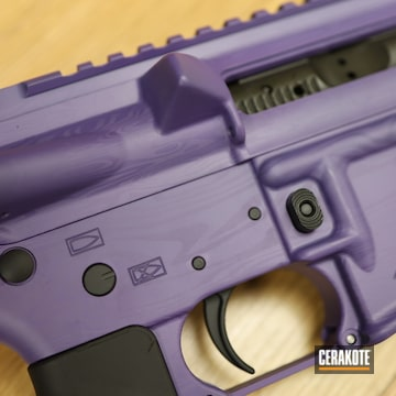 Aero Precision Ar Build Cerakoted Using Graphite Black And Bright Purple